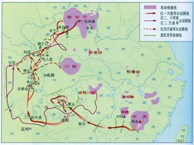红军长征路线图.